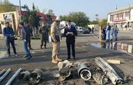 """Debris of missiles fired at Azerbaijani Barda <span class=""""color_red"""">[PHOTO]</span>"""