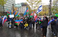 """Protest held in Montreal to condemn Armenian attacks on Azerbaijani cities <span class=""""color_red"""">[PHOTO]</span>"""