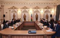 """Head of Presidency for Turks Abroad and Related Communuties visits the State Committee <span class=""""color_red"""">[PHOTO]</span>"""