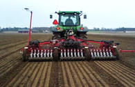 Demonstration of wheat row-sowing held in Azerbaijan