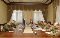 Azerbaijani defence minister, Russian peacekeeping commander mull further cooperation