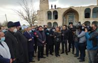 Assistant to Azerbaijan's president, diplomats, Garabagh FC representatives visit Aghdam Mosque