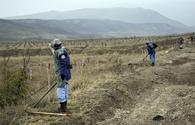 Azerbaijan continues demining road leading to liberated settlement
