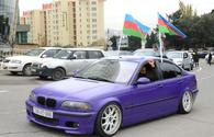 """Festive procession in Baku in connection with liberation of Azerbaijan's Lachin district <span class=""""color_red"""">[PHOTO]</span>"""