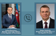 Azerbaijani, Latvian FMs eye fulfilment of Karabakh peace deal
