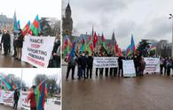 Dutch Azerbaijanis protest at Karabakh resolutions of French Senate, Belgian parliament
