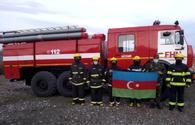 Fire department begins to operate in liberated village of Azerbaijan's Aghdam