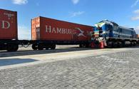Second Turkish freight train exporting goods to China reaches Baku port