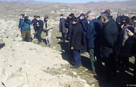"Azerbaijani diplomats view cemetery destroyed by Armenians in Jabrayil - Trend TV <span class=""color_red"">[PHOTO/VIDEO]</span>"
