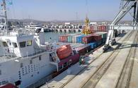 Kazakhstan's Barys deck cargo ship returns from Baku to home port