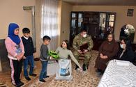 "Representatives of Azerbaijani Defense Ministry and local executive structures visit families of martyrs <span class=""color_red"">[PHOTO]</span>"