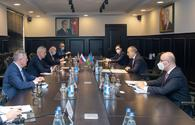 """Azerbaijani, Slovak ministers discuss issue related to expansion of economic ties <span class=""""color_red"""">[PHOTO]</span>"""