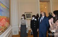 """Cultural figures, diplomatic missions view art works inspired by Novruz <span class=""""color_red"""">[PHOTO]</span>"""