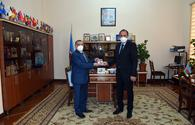 "Azerbaijan, Hungary eye cooperation in library science <span class=""color_red"">[PHOTO]</span>"