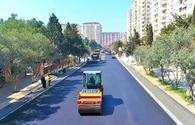 "State Automobile Roads Agency reconstructs several roads in Baku <span class=""color_red"">[PHOTO]</span>"