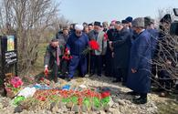 """Azerbaijan's top religious officials visit graves of martyrs in liberated Aghdam <span class=""""color_red"""">[PHOTO/VIDEO]</span>"""