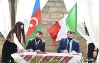 "Icherisheher Reserve,  Italy`s Matera Municipality sign friendship treaty <span class=""color_red"">[PHOTO]</span>"