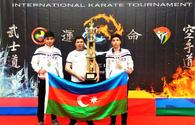 """National karate fighters win medals at Unmei Cup-2021 <span class=""""color_red"""">[PHOTO]</span>"""