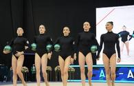 Azerbaijani team grabs bronze in exercise with 5 balls at Rhythmic Gymnastics World Cup in Baku