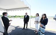 "President Aliyev visits Albanian church in Gabala, inaugurates new facilities <span class=""color_red"">[UPDATE]</span>"