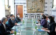 """Speaker of Azerbaijani parliament, Italian minister exchange views on issues of mutual interest <span class=""""color_red"""">[PHOTO]</span>"""