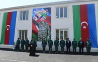 """Azerbaijan opens new military unit of State Border Service in liberated Zangilan <span class=""""color_red"""">[PHOTO]</span>"""
