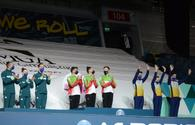 """Baku holds ceremony of awarding winners of World Cup in aerobics among trios and in individual program for women <span class=""""color_red"""">[PHOTO]</span>"""