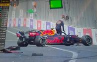 """Max Verstappen out of F1 Azerbaijan Grand Prix, following crash <span class=""""color_red"""">[PHOTO]</span>"""