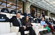 """Azerbaijani president, first lady watch football match between Switzerland and Wales <span class=""""color_red"""">[PHOTO]</span>"""