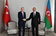 """Presidents of Azerbaijan, Turkey hold one-on-one meeting <span class=""""color_red"""">[UPDATE]</span>"""