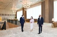 """President Aliyev views conditions created at Gulustan Palace after renovation <span class=""""color_red"""">[PHOTO]</span>"""