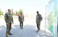"""Azerbaijani president familiarizes with new military camp, apartments for servicemen families of Air Force <span class=""""color_red"""">[PHOTO]</span>"""