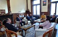 """Azerbaijan's parliament delegation visits country's embassy in Hungary <span class=""""color_red"""">[PHOTO]</span>"""