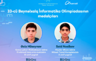 With the support of Azercell, our students won two medals at the International Olympiad in Informatics