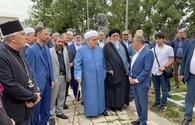 """Heads of Azerbaijan's religious confessions visit mosques in Shusha <span class=""""color_red"""">[PHOTO]</span>"""