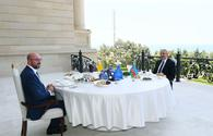 """Azerbaijani, European Council presidents have joint working dinner <span class=""""color_red"""">(PHOTO)</span>"""