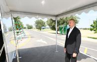 """President Aliyev inaugurates new projects in western regions <span class=""""color_red"""">[PHOTO]</span>"""