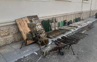 """Numerous weapons left by Armenia found in Azerbaijan's Fuzuli district <span class=""""color_red"""">[VIDEO]</span>"""