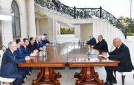 """President Aliyev receives delegation led by first deputy chairman of Turkish AKP <span class=""""color_red"""">[PHOTO]</span>"""