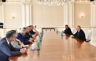 """President Aliyev receives delegation led by Turkish Grand National Assembly chairman <span class=""""color_red"""">[UPDATE]</span>"""