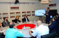 """Azerbaijan's Trend news agency holds discussions on bill &quot;On Media&quot; <span class=""""color_red"""">[PHOTO/VIDEO]</span>"""