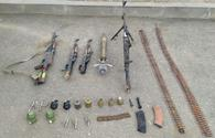Azerbaijani police seize weapons, munitions in liberated Shusha city