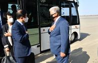 """Chair of Korean National Assembly arrives in Azerbaijan <span class=""""color_red"""">[PHOTO]</span>"""