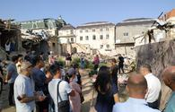 """Turkic-speaking reporters visit Armenian-destroyed sites in Ganja <span class=""""color_red"""">[PHOTO]</span>"""