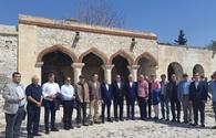 """Turkic Council delegation visits 'Imaret' complex in Aghdam <span class=""""color_red"""">[PHOTO]</span>"""