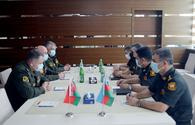 """Azerbaijani, Belarusian military specialists hold meeting regarding medical provisions <span class=""""color_red"""">[PHOTO]</span>"""