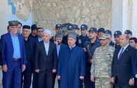 """Address of Azerbaijani president to people on Remembrance Day broadcasted in front of Juma Mosque in Aghdam <span class=""""color_red"""">[PHOTO]</span>"""