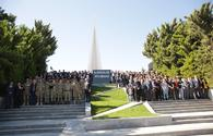 """Memory of Azerbaijan's martyrs honored in country's Khachmaz district <span class=""""color_red"""">[PHOTO]</span>"""
