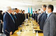 """Speaker of Azerbaijani Parliament takes part in Remembrance Day ceremony in Kazakhstan <span class=""""color_red"""">[PHOTO]</span>"""
