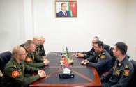 """Azerbaijan, Belarus discuss military personnel <span class=""""color_red"""">[PHOTO]</span>"""